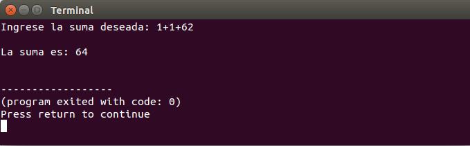 Salida de la función input