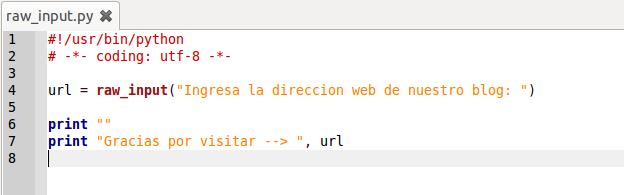 Función raw_input