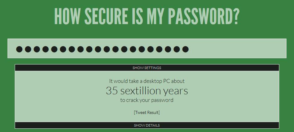 Seguridad del password