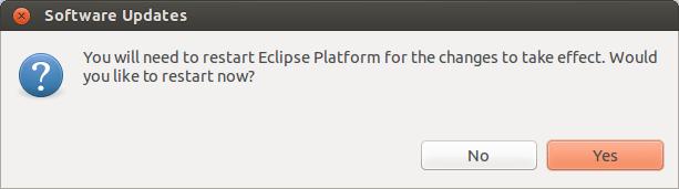 Reiniciando Eclipse