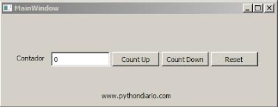 Contador en Python y PyQt4