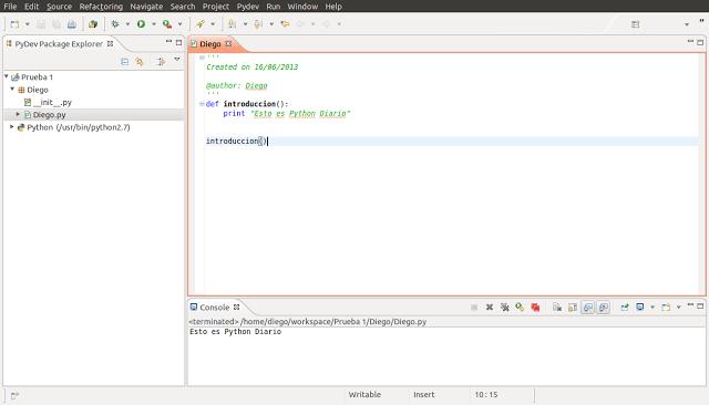Pydev IDE Python