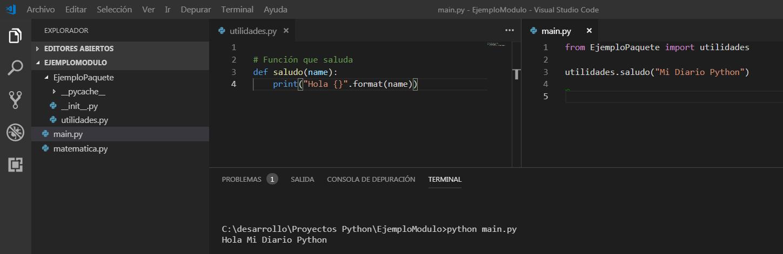 Paquetes y Modulos en Python