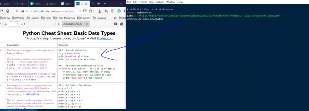 abrir PDF con Python dada una URL