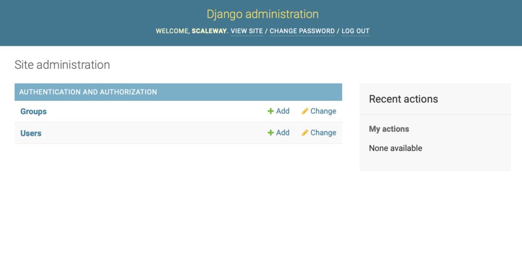 Instalar y configurar Django en Clouding -  Administración Django